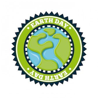 Conception de la terre au cours de l'illustration vectorielle fond blanc
