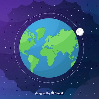 Conception de la terre dans l'espace