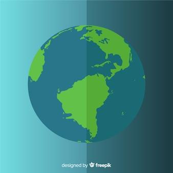 Conception de la terre depuis l'espace avec le jour et la nuit