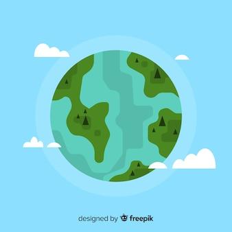 Conception de la terre depuis l'espace