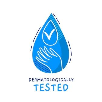 Conception testée dermatologiquement