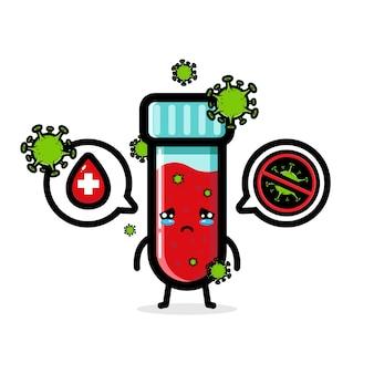 Conception de tests sanguins positifs pour le virus corona