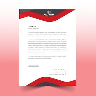 Conception de tête de lettre rouge