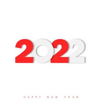 Conception de texte de bonne année 2022. conception de modèle de brochure, carte postale, bannière. illustration vectorielle