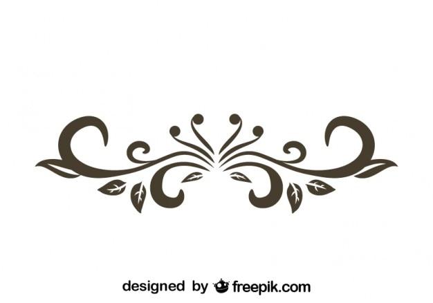 Conception texte de diviseur décoratif floral rétro