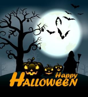 Conception de texte d'halloween heureux pour la journée d'halloween