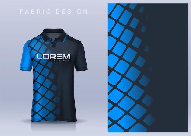 Conception de textile de tissu pour le maillot de football de tshirt de sport pour la vue de face uniforme de club de football