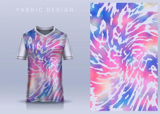 Conception textile en tissu pour tshirt de sport maillot de football pour vue de face uniforme de club de football