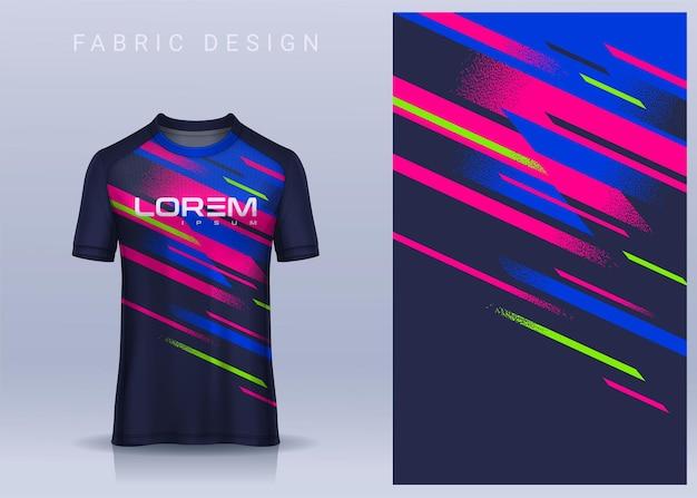 Conception textile en tissu pour tshirt de sport modèle de maillot de football pour vue de face uniforme de club de football