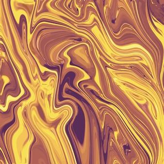 Conception de texture de marbre liquide, surface de persillage coloré, lignes dorées, conception de peinture abstraite dynamique