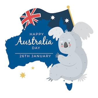 Conception de tirage de la journée nationale de l'australie