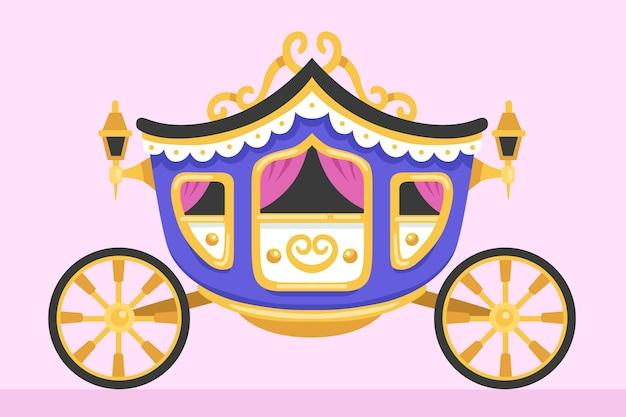 Conception traditionnelle de chariot de conte de fées