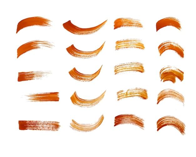 Conception de trait de pinceau de peinture marron dessiné à la main