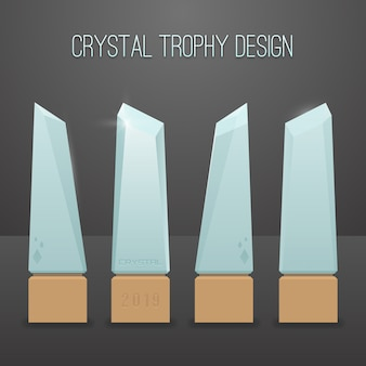 Conception de trophée en cristal