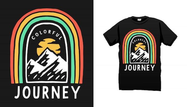 Conception de tshirt aventure en montagne