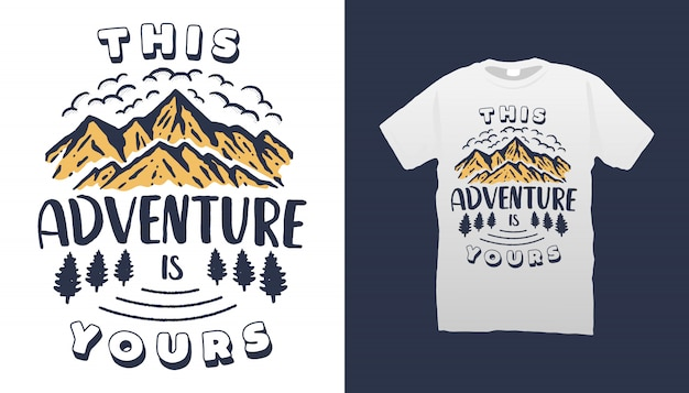 Conception de tshirt citations de camping