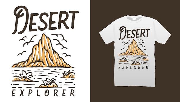 Conception de tshirt desert explorer