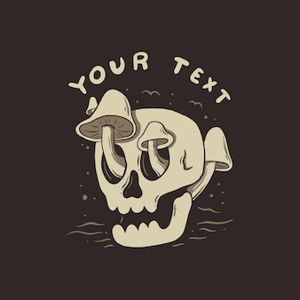 Conception de tshirt illustration crâne simple