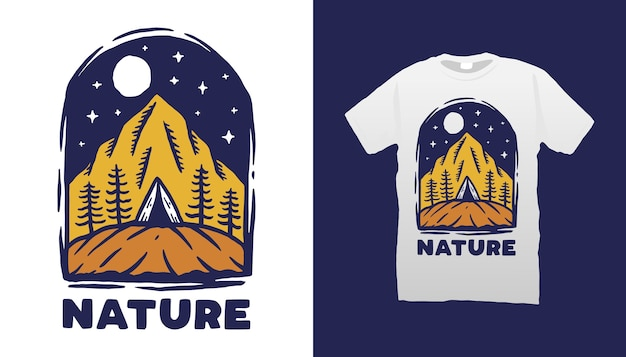 Conception de tshirt nature