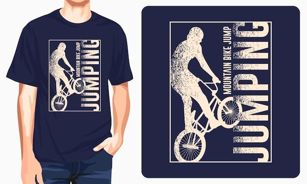 Conception de tshirt de saut de vélo de montagne