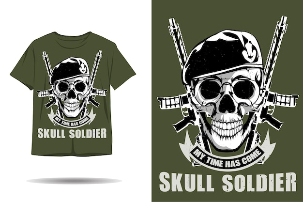 Conception de tshirt silhouette soldat crâne
