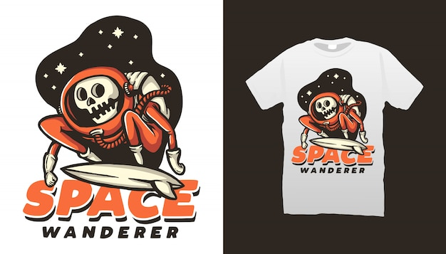 Conception de tshirt space wanderer
