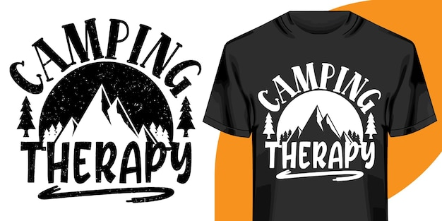 Conception de tshirt de thérapie de camping