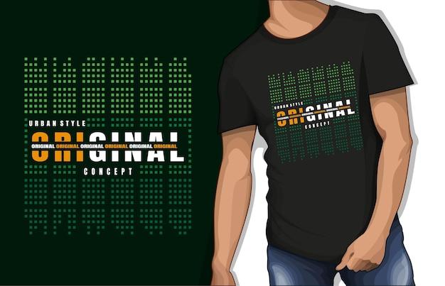 Conception de tshirt typographie concept original de style urbain
