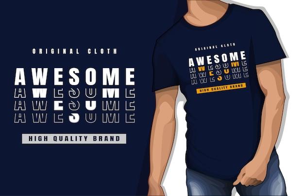 Conception de tshirt de typographie géniale en tissu original