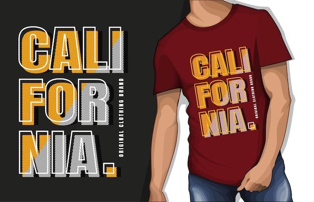 Conception de tshirt de typographie de marque de vêtements originaux de californie