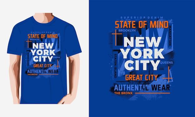 Conception de tshirt typographie new york city