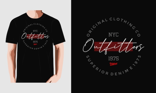 Conception de tshirt de typographie de pourvoirie originale vecteur premium