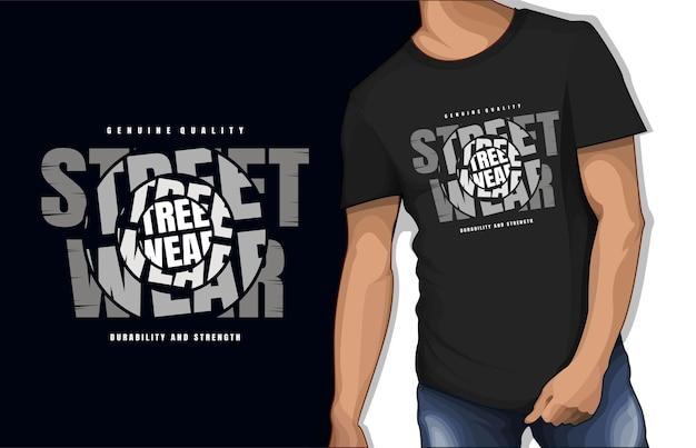 Conception de tshirt typographie street wear de qualité authentique