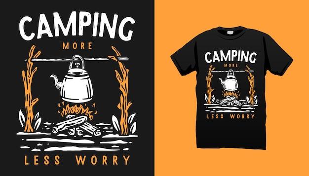 Conception de tshirt de vie de camping