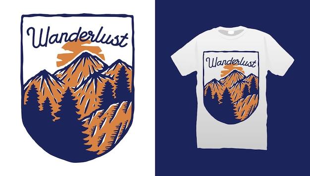 Conception de tshirt wanderlust