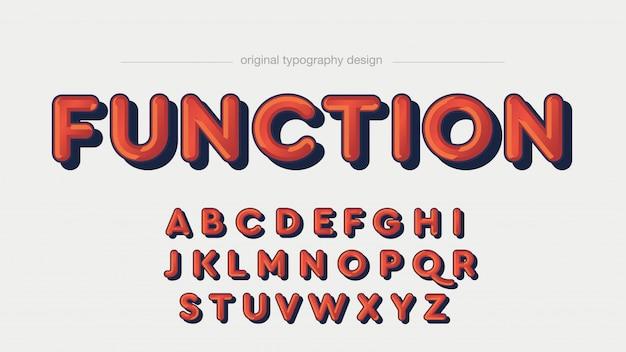 Conception de typographie arrondie ombre rouge foncé
