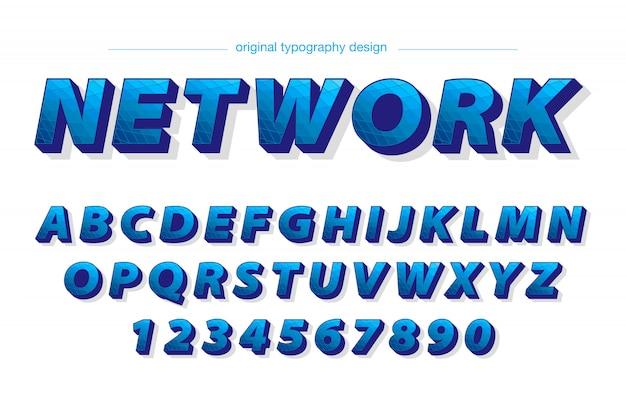 Conception de la typographie audacieuse bleue moderne