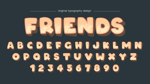 Conception de typographie audacieuse bulle mignonne