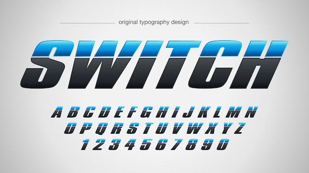 Conception de typographie audacieuse moderne bleu noir