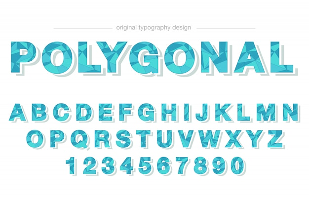 Conception de typographie basse poly