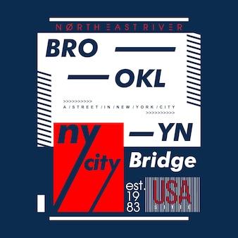 Conception de typographie de brooklyn, illustration vectorielle illustration