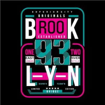 Conception de typographie de brooklyn t-shirt