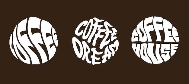 Conception de typographie de café