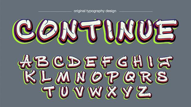Conception de typographie graffiti coloré