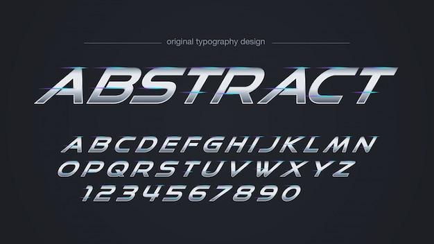 Conception de typographie de lumières de lignes en acier abstrait