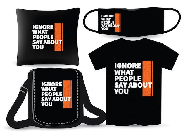 Conception de typographie moderne de motivation pour t-shirt et merchandising