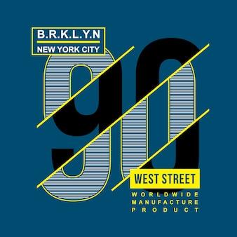 Conception de typographie numéro de brooklyn