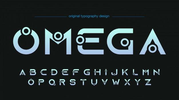 Conception de typographie personnalisée futuriste abstraite