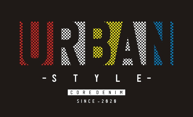 Conception De Typographie Pour T-shirt Imprimé Vecteur Premium