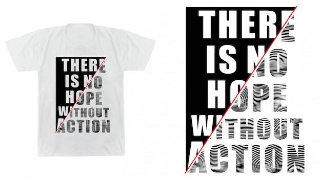 Conception de typographie pour t-shirt imprimé